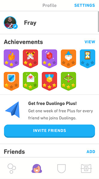 Duolingo language learning app Allaboardthefraytrain
