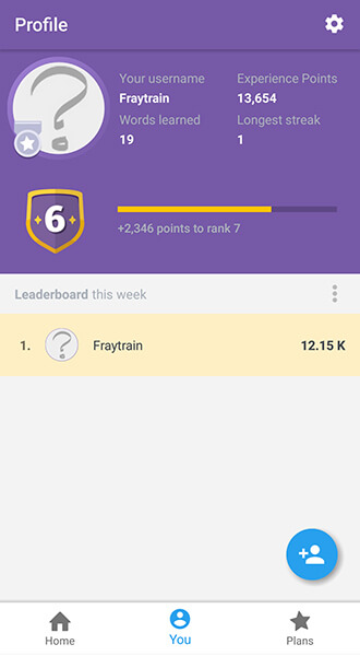 Memrise language learning app screentshot Allaboardthefraytrain
