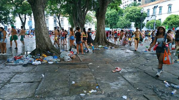 Rio Carnival 2019 trash and filth
