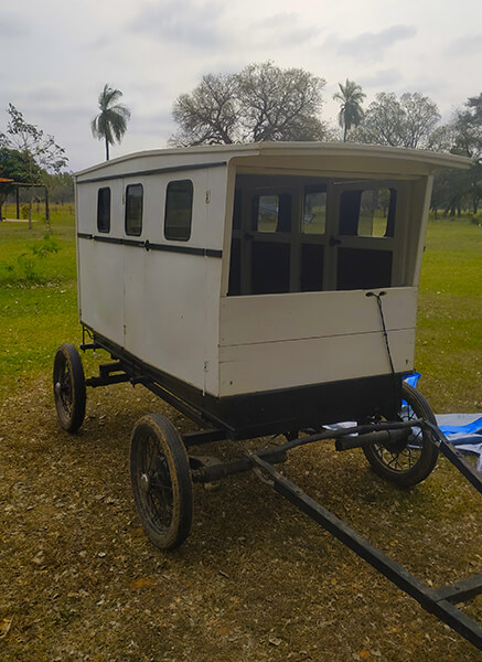 An Amish cart is definitely one of the unique places to sleep in Paraguay