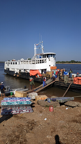 The Aquidaban boat
